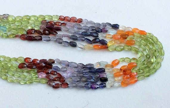 Multi Color Gemstone Beads Multi Color Faceted by gemsforjewels