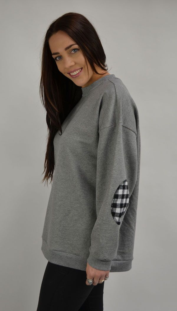 $69.90  cotton sweater with elbow patches