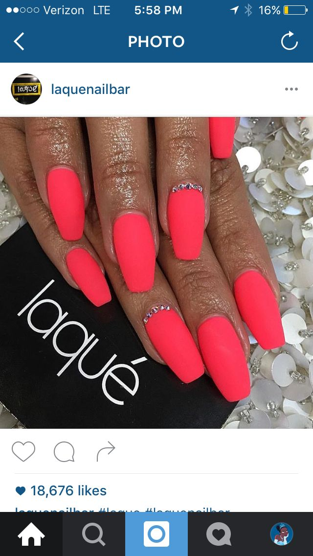 Laqué Nails - Laque Nails - Acrylic Nails - Summer Nails - Spring Nails - Pink - Purple - Neon - Yellow - Coffin Nails - Nail Ideas