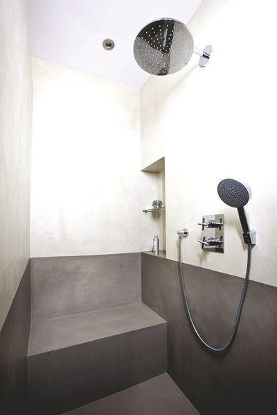 1000 id es sur le th me deux pommeaux de douche sur - Salle de bain gris perle ...