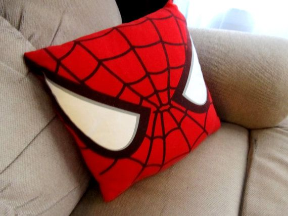 SpiderMan Recycled TShirt Pillow by MakeItSick on Etsy, $20.00