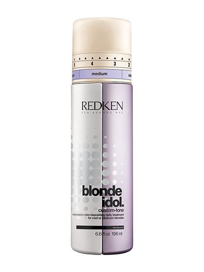 Platinum Blonde Hair Care - Redken Blonde Idol Custom-tone Conditioner in Violet for Cool Blondes | allure.com
