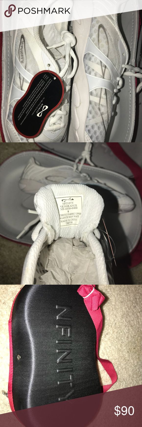 Nfinity Cheer Shoes Brand new with tags, never been worn, quit cheer before getting to wear. Size 8 women Shoes Athletic Shoes