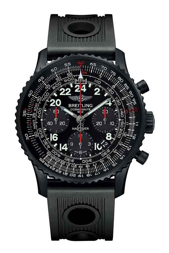 Breitling Navitimer Cosmonaute Blacksteel. A limited edition of 1,000 pieces, it retails for $9,590.