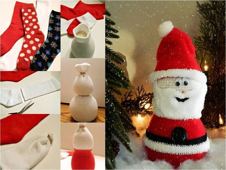 no sew sock santa craft sock santa clause sewing sock animals 6963