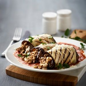 Moussaka and brinjal cannelloni