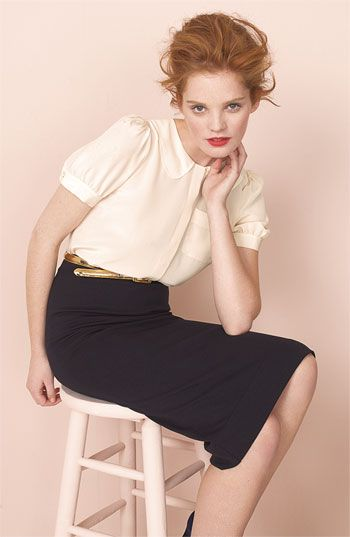Love this blouse and skirt, both by Marc Jacobs.: Jacobs Iris, Jacobs Pencil, Style, Marc Jacobs, Pencil Skirts, Work Outfit