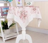Feature Size: 80cm * 80cm (include the length of lace)  Use:Home Use:Hotel Technics:Handmade Pattern