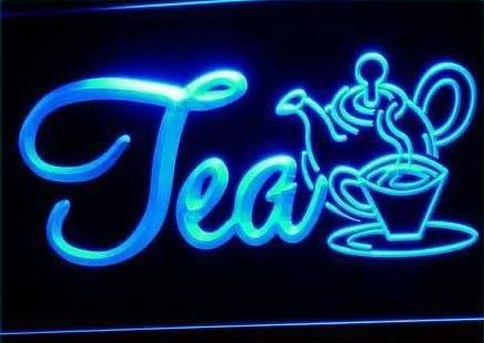 OPEN Tea Product Cafe Shops Neon Light Signs