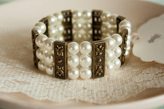 Elegant Bracelet Stretchy Bracelet Bronze by BeautyfromashesUSA