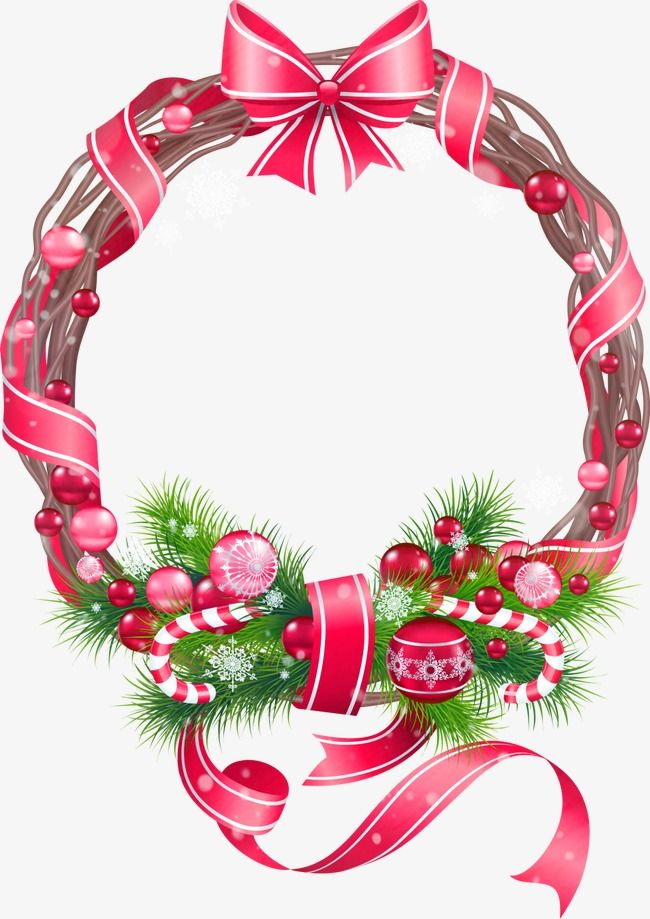 Vector Christmas border, Christmas Border, Christmas Wreath, Christmas Crutches PNG and Vector