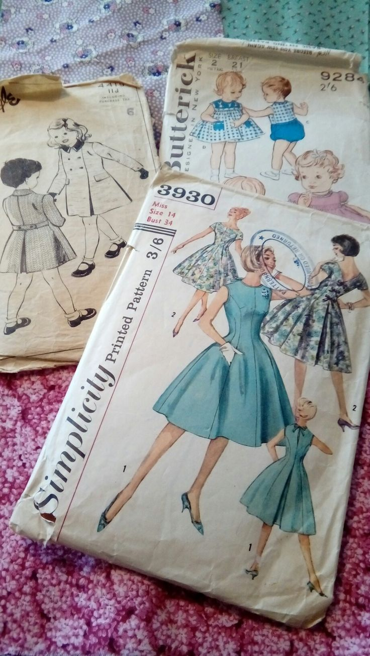 Vintage sewing patterns for the library's collection.