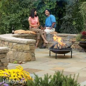 Build a Flagstone and Stone Block Patio