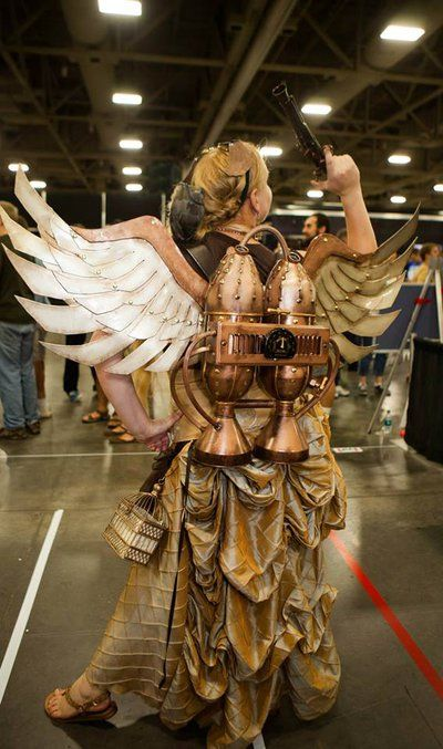 Steampunk Winged Jetpack 2 by Winged-warrior on deviantART - made from craft foam, cardboard, 3-liter bottles, funnels, & other found objects. So cool!