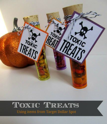 Toxic Treats - Made with containers from the Target Dollar Spot