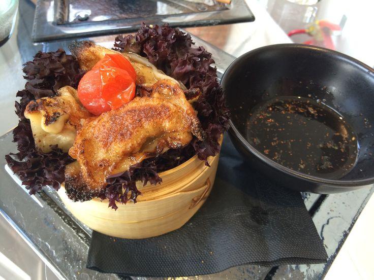 Prawn Gyoza Dumplings - UNI Restaurant, Ebury St, London