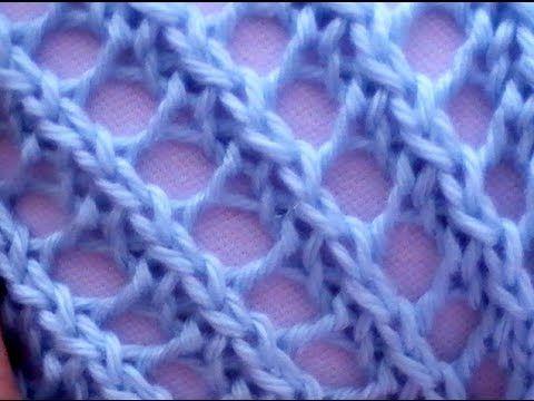 Como Tejer Punto Fantasía Diagonal 2 Agujas (125)