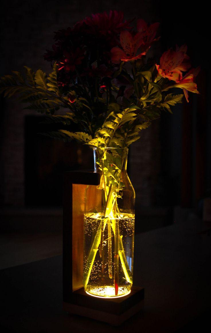 Handmade Flower Jar holder with LED light