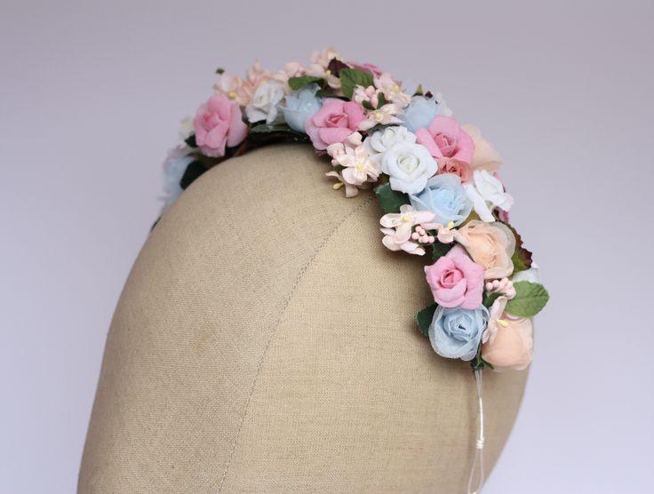 Floral headdress by Samantha Walden
