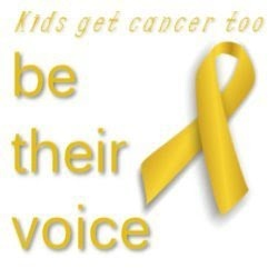 Ribbon:  Kids get cancer too - be their voice