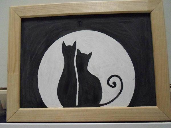 панно из фасоли коты (4)