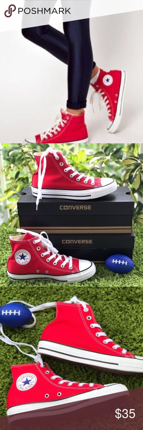 1 HOUR SALE! CONVERSE RED WOMENS HI TOP SHOES Brand new without box. 100% authentic. Ships same day or very next. Converse Shoes Sneakers