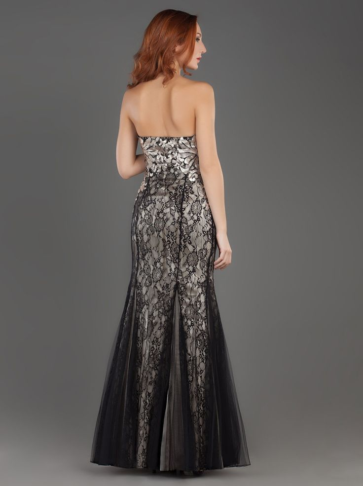 Long Evening Strapless Tulle Dress with Lace and Beading!!! http://mikael.gr/en/new-collection/50677.html