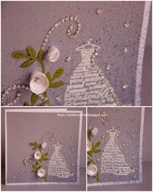wedding, cinderella, stampin'up, card