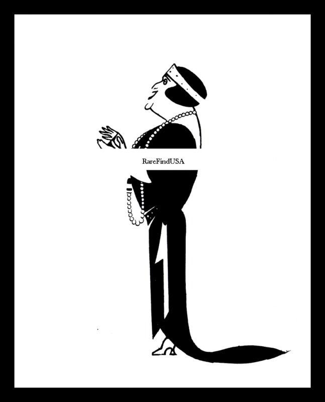 1922-rpt Dame NELLIE MELBA Australian Helen Porter Mitchell UK Caricature MATTED