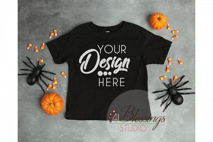 Halloween Mockup Black Childrens T Shirt Fall Flat Lay 128789 Mockups Design Bundles Shirt Mockup Clothing Mockup Bodysuit Shirt