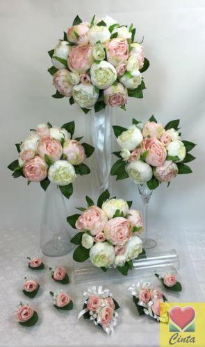 Light-Pink-White-Peony-Artificial-Silk-Flowers-Wedding-Bouquet-Set-cintahomedeco