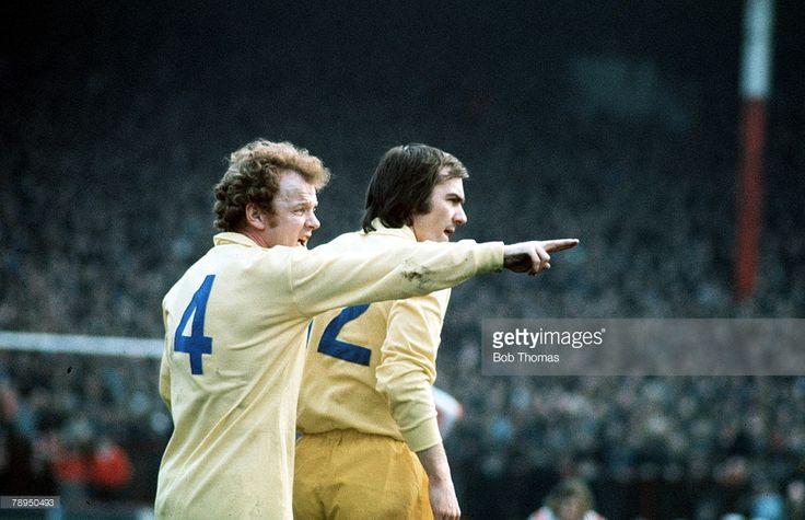 23rd February 1974 Victoria Ground Stoke Stoke City v Leeds United Leeds United's captain Billy...