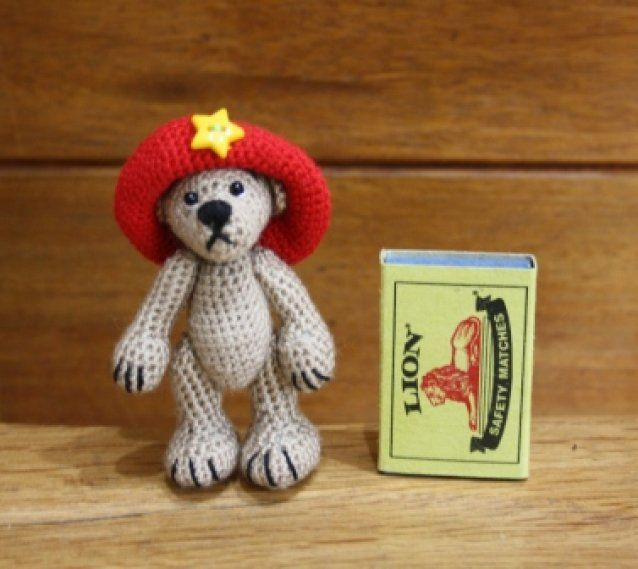 Phred in the REd Mini bear SOLD
