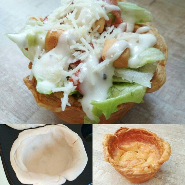 Ατομικές caesar σαλάτες