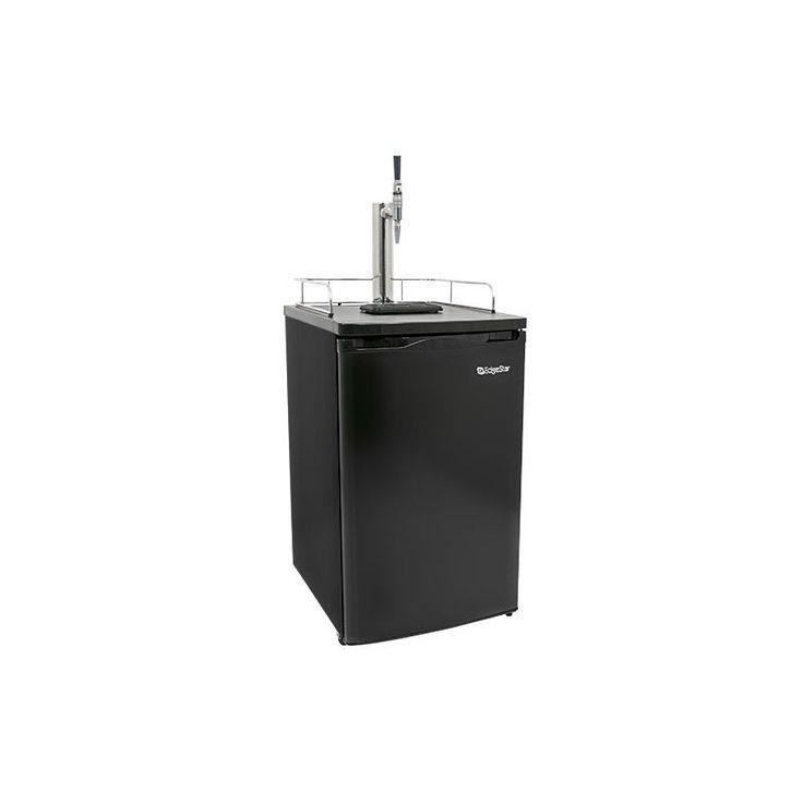 EdgeStar KC2000CAFE 20 Inch Wide Cold Brew Coffee Dispenser Black Refrigerators Kegerator Coffee