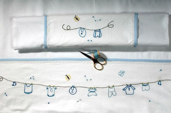 happy clothes horse baby linen sheet by babysdreamfairytales