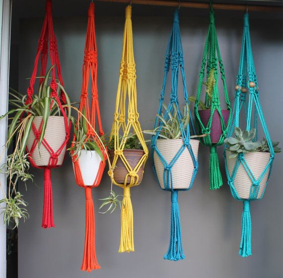Macramé Plant Hangers in assorted neutral by SunshineDreamingLove