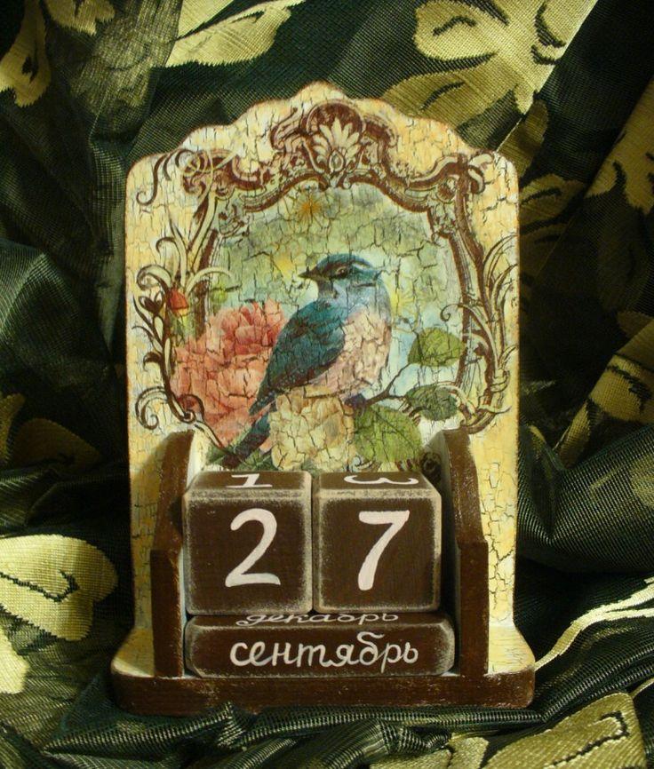 decoupage calendar craft art home decor