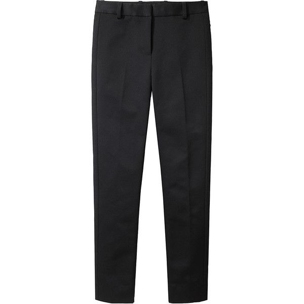 3.1 Phillip Lim Pencil Tuxedo Pant (£185) ❤ liked on Polyvore featuring pants, bottoms, trousers, pantalones, slim black pants, slim fit trousers, slim fit pants, black tuxedo pants и slim tuxedo pants