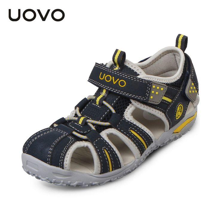 Merek 2017 musim panas pantai anak uovo sepatu tertutup toe sandal untuk anak laki-laki dan perempuan desainer balita sandal untuk 4-15 tahun anak-anak berusia