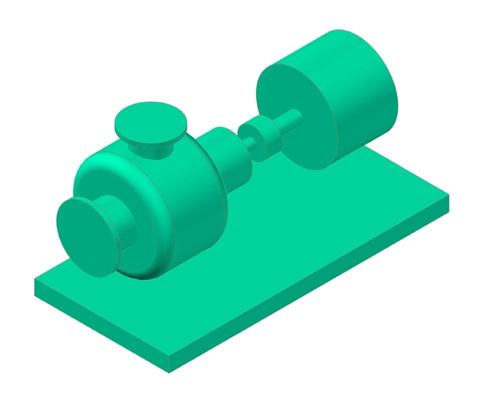 Here's a 3D Model I did in my online CADWorx Class (Pump)