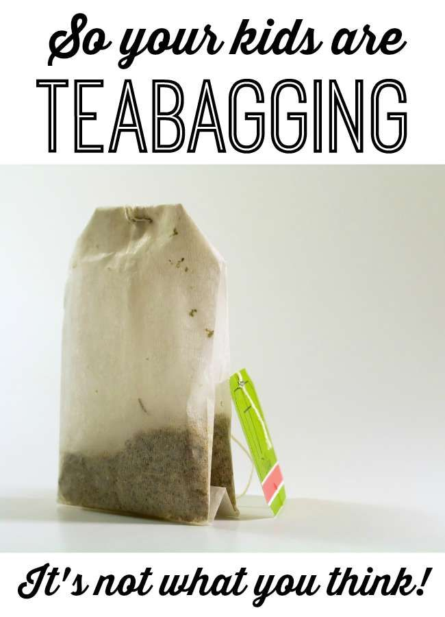 """One mom's hilarious story about overhearing her kids talking about """"teabagging"""" and what she did about it. Parenting humor 