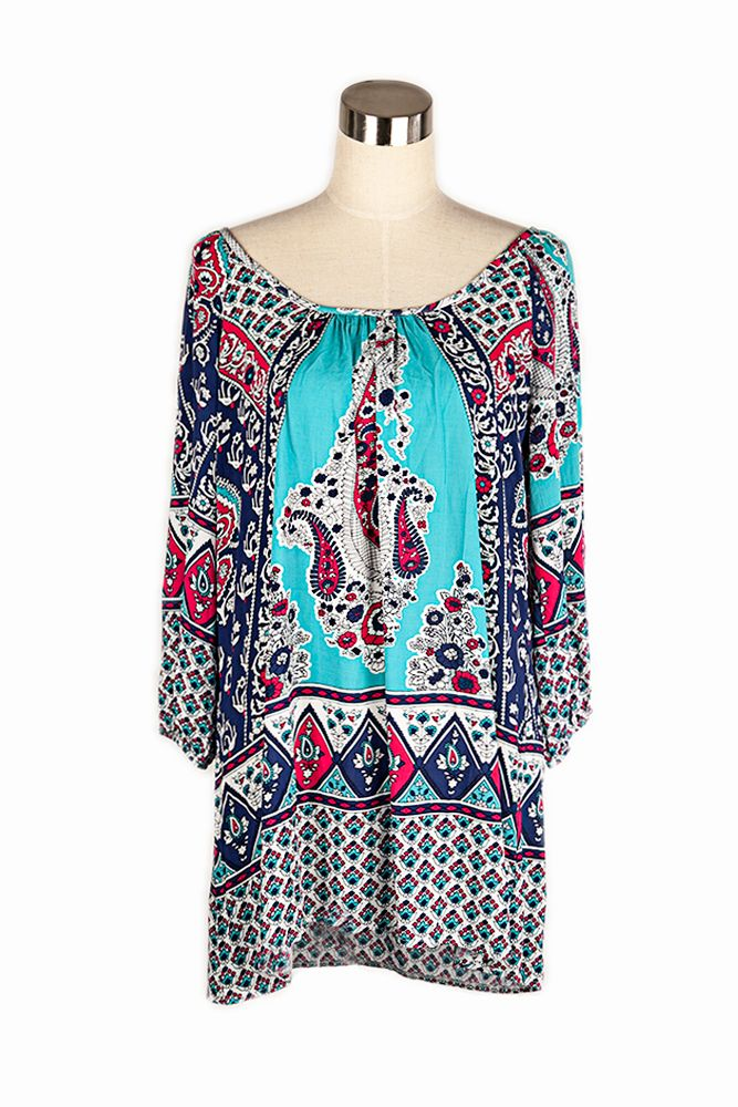 Add a touch of colour to a dreary day with a gorgous rayon tunic