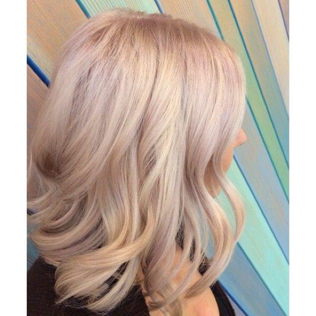 Light Pink Highlights In Blonde Hair