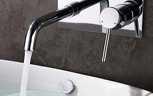 Homelody Robinet Mural Mitigeur à Encastrer Pour Lavabo Vasque à Poser Chromé Mousseur ABS Anti-éclaboussures Robinetterie Salle de bains:…