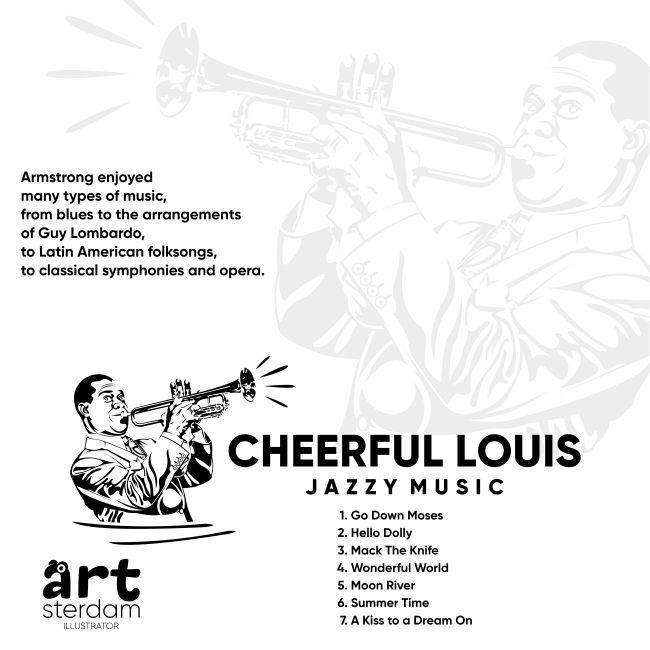 illustration, drawing, Art, design, musician, trumpeter, Louis Armstrong, jazz, music, songs, trumpet, Logo, poster, иллюстрация, рисунок, постер, арт, дизайн, музыкант, трубач, Луи Армстронг, джаз, музыка, песни, логотип, афиша