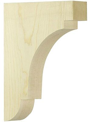 "Decorative Brackets. Medium Pine Cove Shelf Bracket 8"" x 6"" x 1 1/2"""
