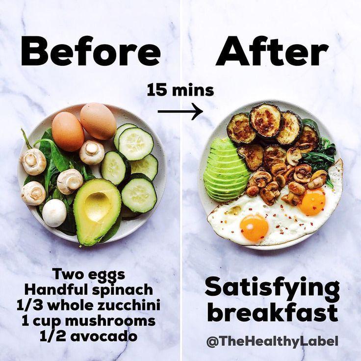 Schnelles einfaches und zufriedenstellendes Frühstück: Dies sollte nicht läng…
