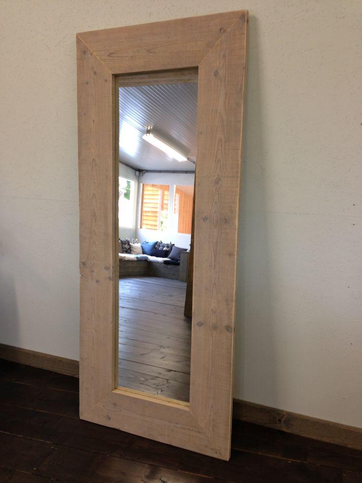 10 best images about spiegels met lijst van oud steigerhout of eiken on pinterest van - Spiegel voor ingang ...