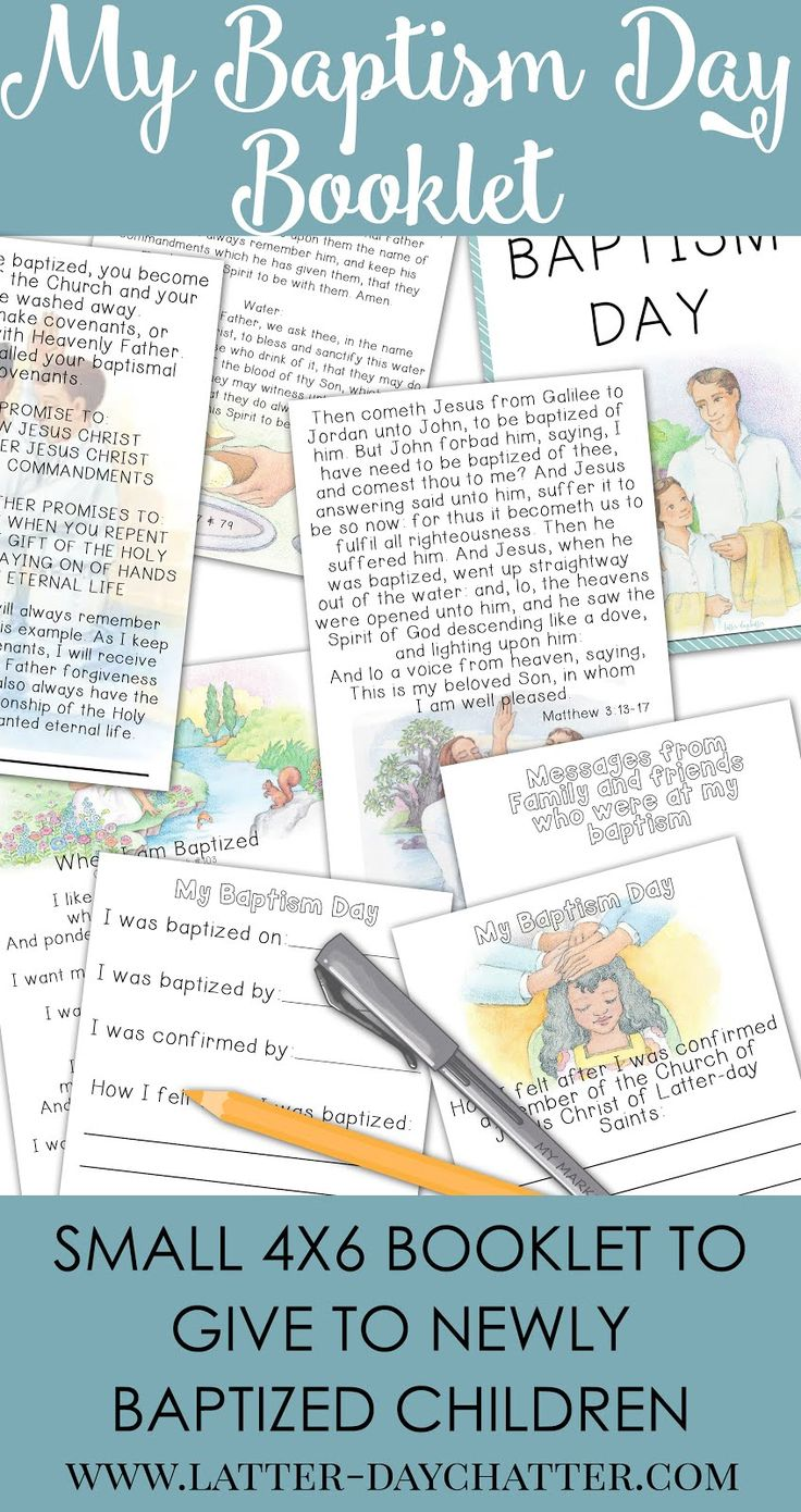 6/11/16 Thank you all so much for your kind words regarding the baptism booklet! I've revamped the pages so that it is able to be downloaded...